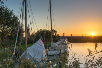 Boats on the River Thurne