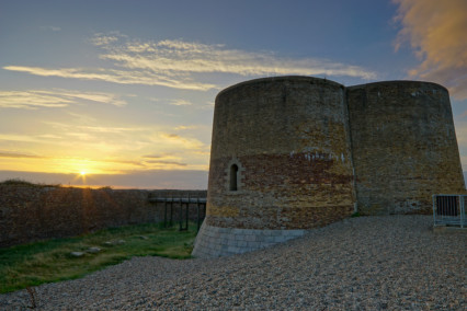 Martello Tower , Aldeburgh at Sunset