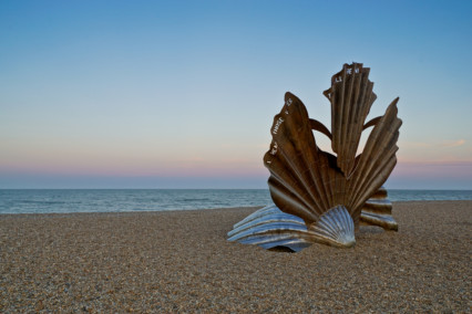 Aldeburgh Beach Scallop Sculpture