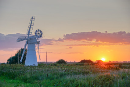 Thurne Windpump at Sunset
