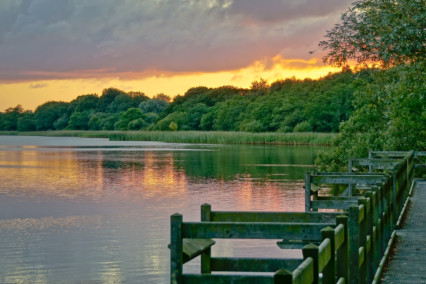 Filby Broad at Sunset