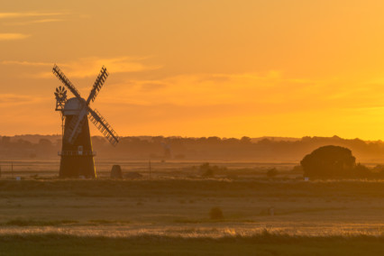 Berney Arms Windmill at Sunset