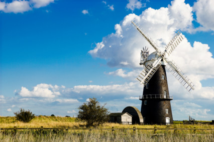 Berney Arms Windmill - Blue Sky