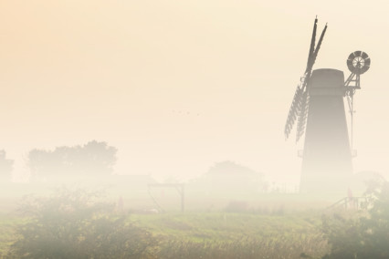 Berney Arms Windmill Mist