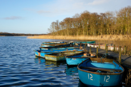 Boats at Ormesby Broad
