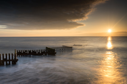 Caister-on-Sea Bbeach at Sunrise