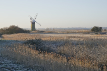 Frosty St Benets Drainage Mill