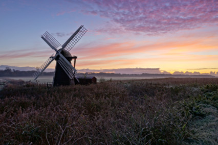 Herringfleet Mill at Sunrise