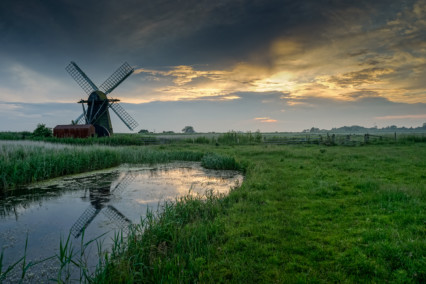 Herringfleet Mill at Sunset