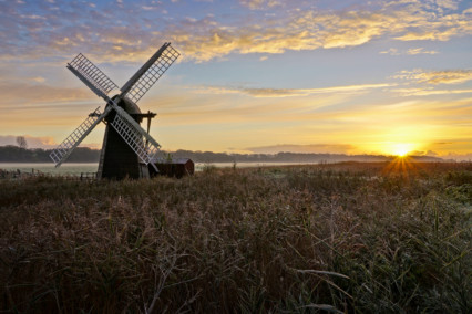 Herringfleet Windpump at Sunrise