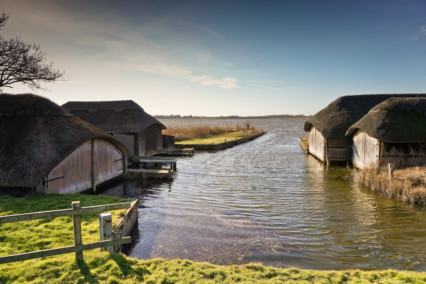 Hickling Broad - Boathouses