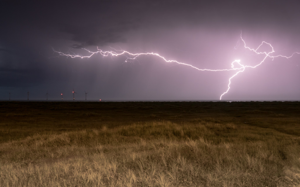 Lightning at Great Yarmouth Beach