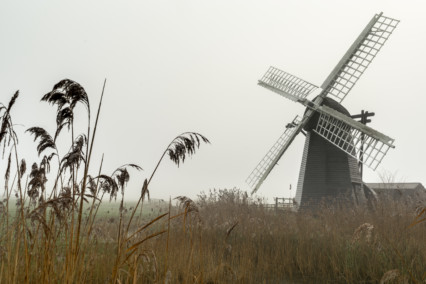 Misty Herringfleet Windpump