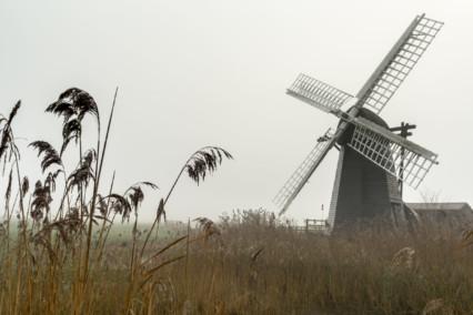 Misty Herringfleet Windpump