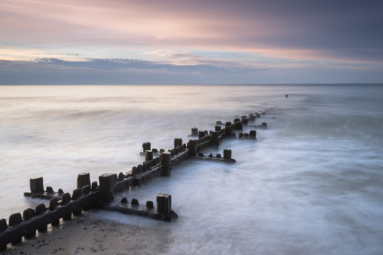 Overstrand beach at dusk