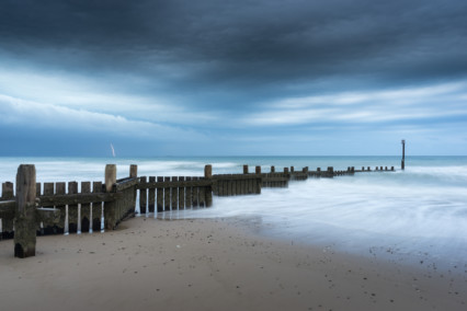 Overstrand Beach Lightning