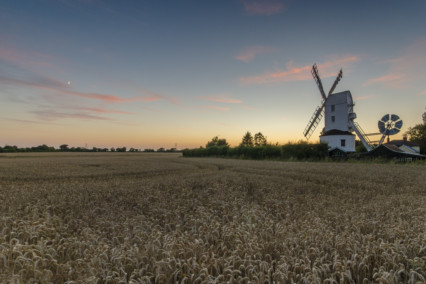 Saxtead Green Windmill at Sunset