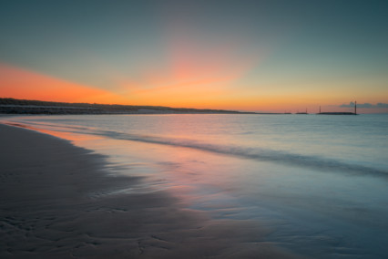 Sea Palling beach at sunset