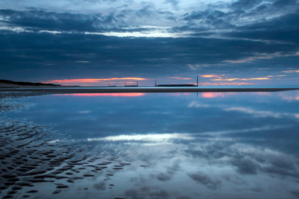 Sea Palling in Norfolk at Sunset
