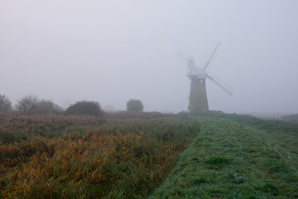 St Benets Drainage Mill Fog