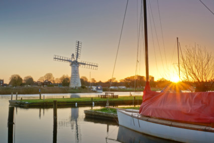 Thurne Windpump at Sunrise