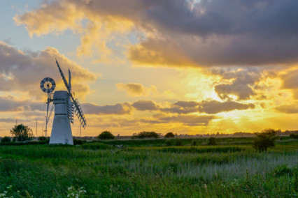 Thurne Windpump Sunset
