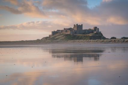 Banburgh Castle at Sunrise
