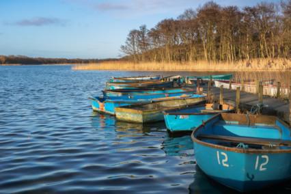 Boats at Ormesby Broad