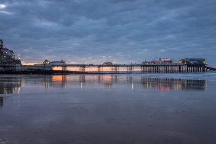 Cromer Pier after sunset