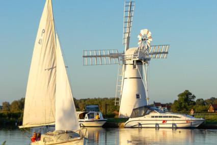 Sailing Boat and Thurne Windpump