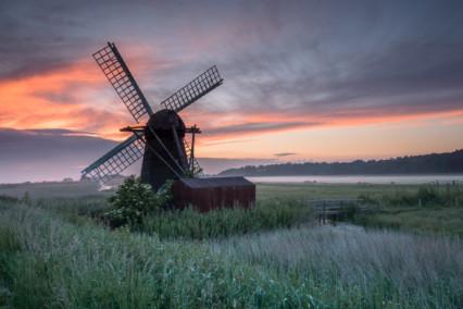 Herringfleet Windpump Sunset
