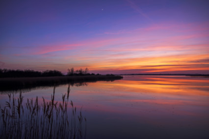 Horsey Mere Pink Sunset