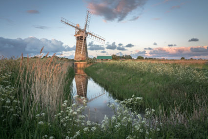 St Benets Drainage Mill Reflections