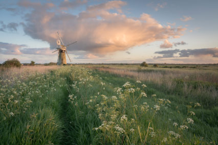 St Benets Drainage Mill at sunset
